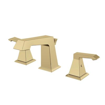 Single Hole Single-Handle Bathroom Faucet with Deck Mount in Satin Brass