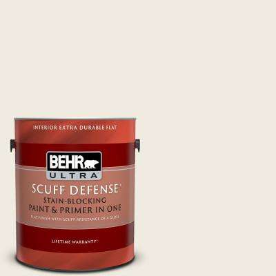 1 gal. #YL-W05 Swiss Coffee Extra Durable Flat Interior Paint and Primer in One