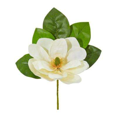 Indoor 18 in. Magnolia Artificial Flower (Set of 6)