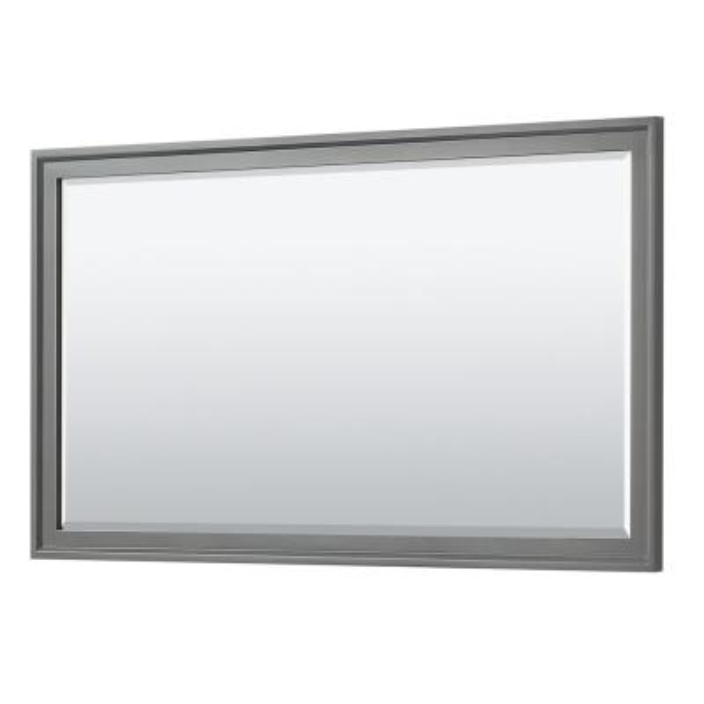 Tamara 58 in. W x 33 in. H Framed Wall Mirror in Dark Gray