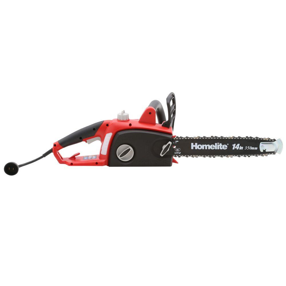 Homelite 14 in 9 amp electric chainsaw ut43103a the home depot 9 amp electric chainsaw greentooth