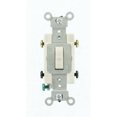 Leviton 30 Amp Industrial Double Pole Switch, White-R62