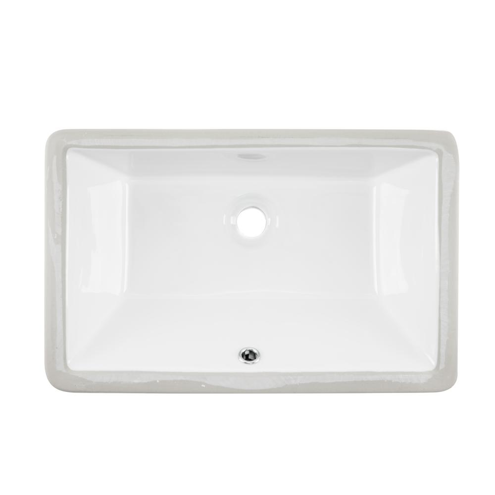 Glazed Porcelain Bathroom Sink