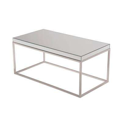 Rhodes 42 in. Clear Finish Coffee Table