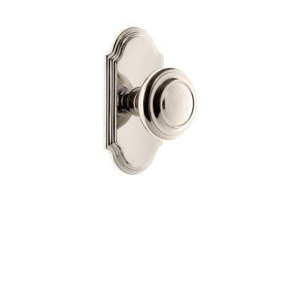 Grandeur Arc Plate Double Dummy with Circulaire Knob in Polished Nickel