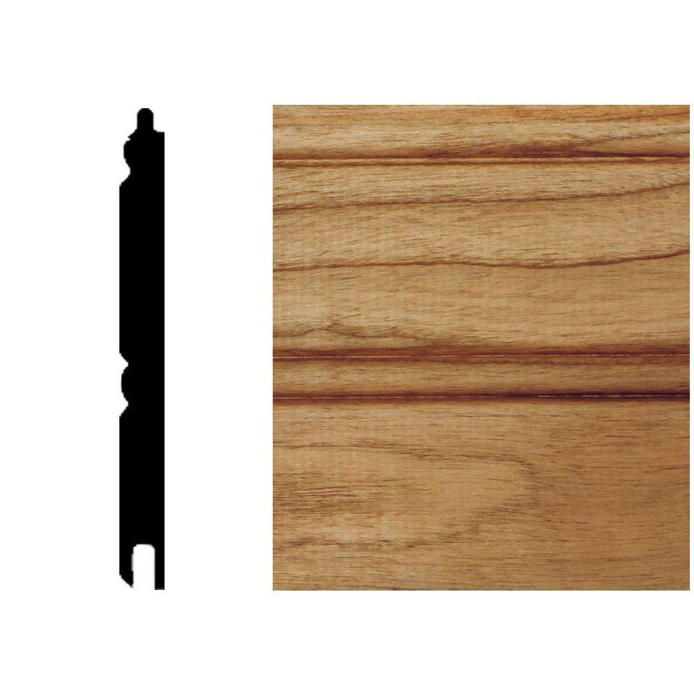 null 5/16 in. x 3-1/8 in. x 8 ft. Cherry T&G Wainscot Panels (6-Pieces)-DISCONTINUED