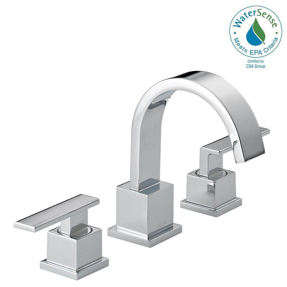 Vero 8 in. Widespread 2-Handle Bathroom Faucet with Metal Drain Assembly
