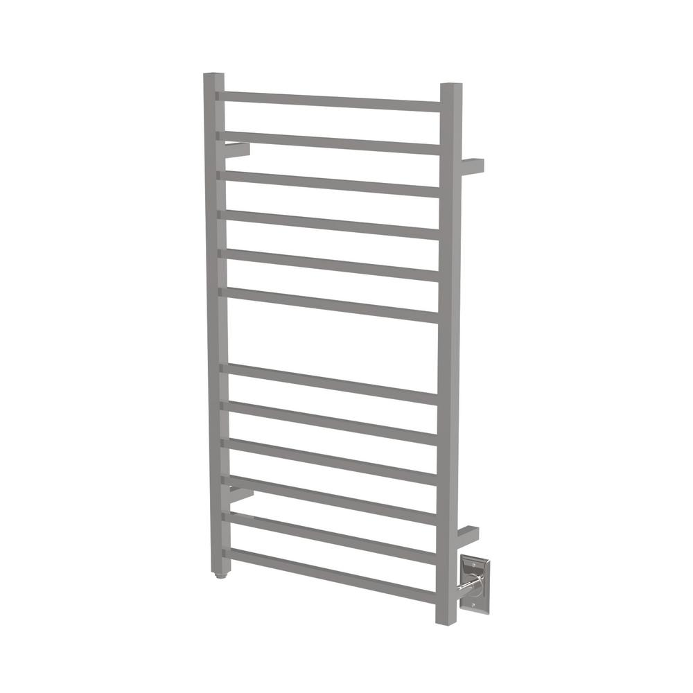 Amba Amba Radiant Square Large 12-Bar Electric Towel Warmer in Polished Stainless Steel