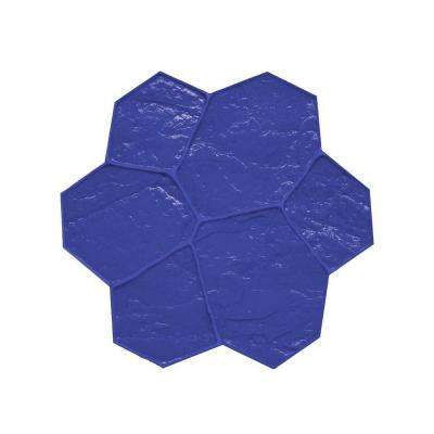 29 in. x 29 in. Blue Random Stone Floppy Mat Concrete Stamp