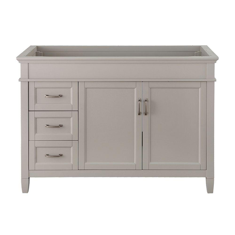 Home Decorators Collection Ashburn 48 in. W x 21.75 in. D Vanity Cabinet in Grey