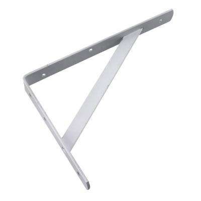 16 in. White Heavy Duty Shelf Bracket