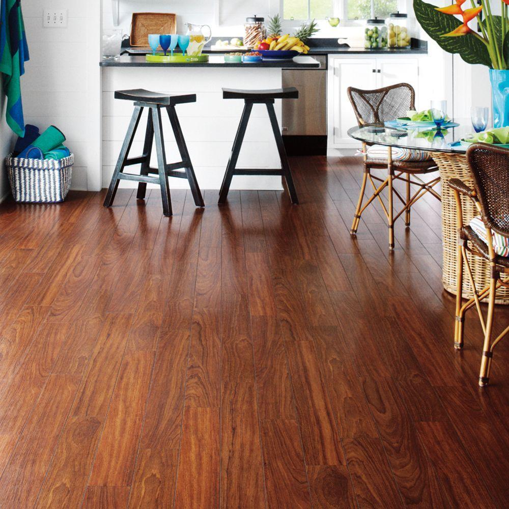 Mahogany Laminate Wood Flooring Plank Noise Scratch