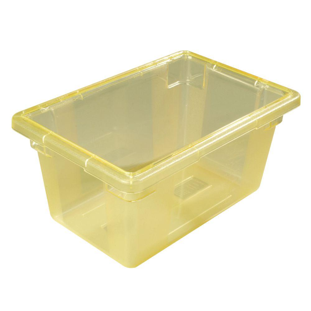 Color-Coded 5.0 gal., 12x18x9 in. Polycarbonate Food Storage Box in Yellow