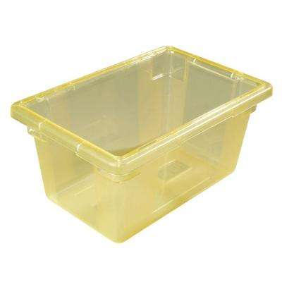 Color-Coded 5.0 gal., 12x18x9 in. Polycarbonate Food Storage Box in Yellow (Case of 6)
