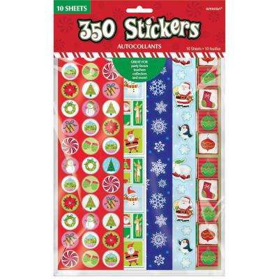 Big Pack Christmas Stickers (350-Count 5-Pack)