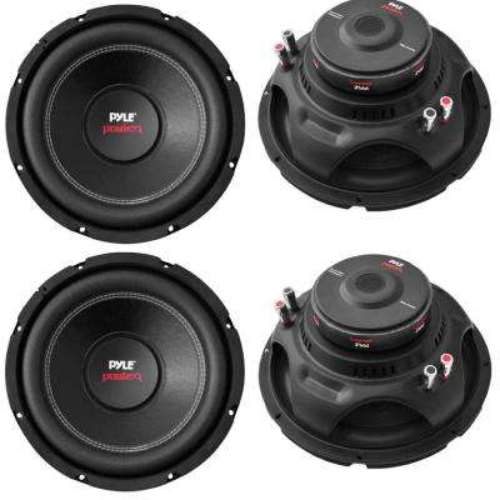 10 in. 4000-Watt Car Subwoofer Audio Power Subs Woofers DVC 4 Ohm Black