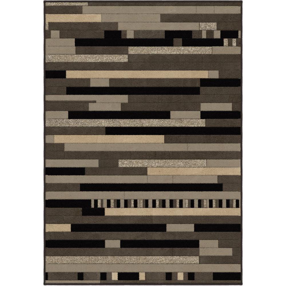 Reardon Gray 5 ft. 3 in. x 7 ft. 6 in. Indoor Area Rug