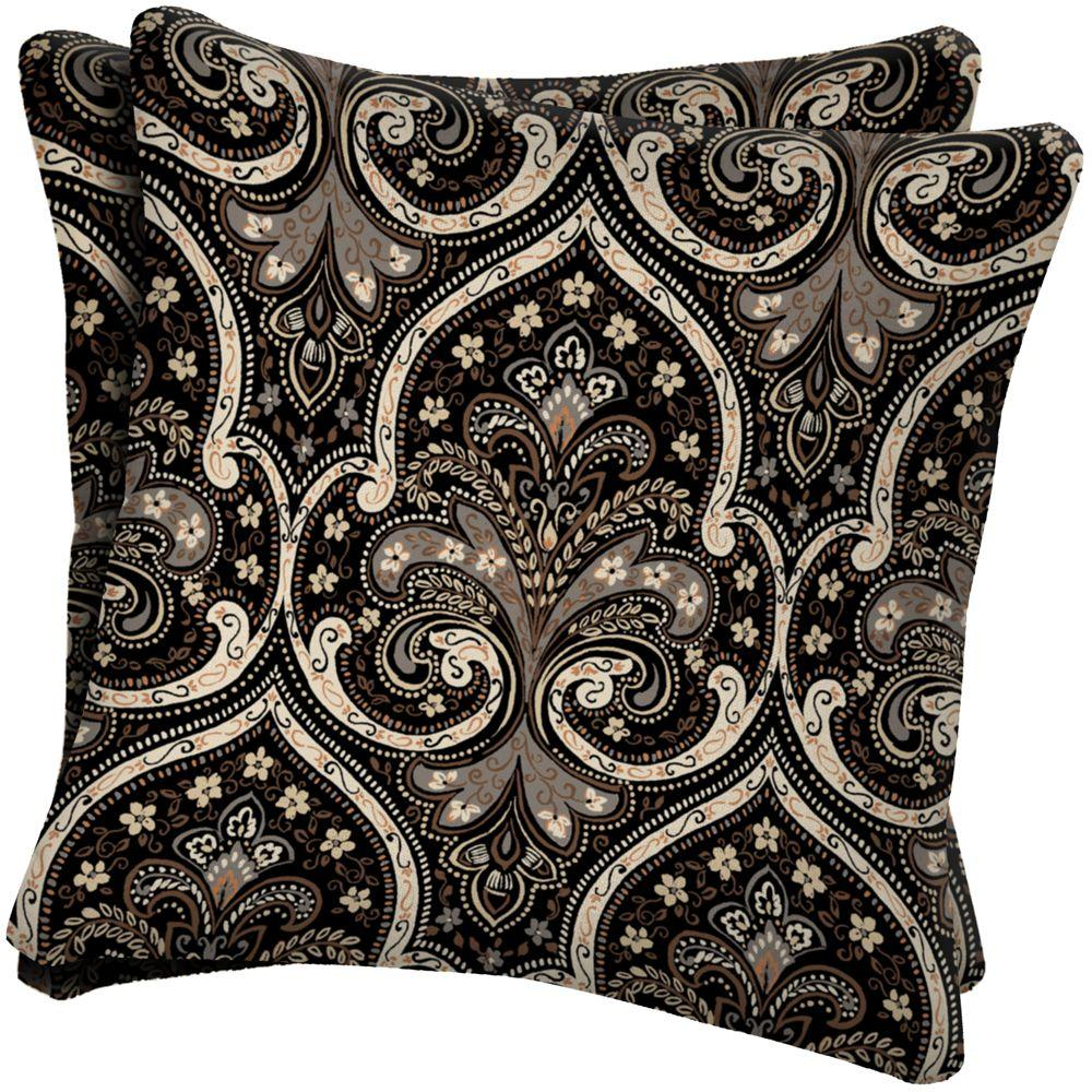 Arden Medici Shale Outdoor Throw Pillow (2-Pack)-DISCONTINUED
