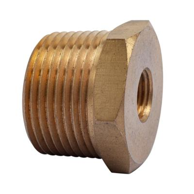 1 in. MIP x 1/4 in. FIP Brass Pipe Hex Bushing Fitting (3-Pack)
