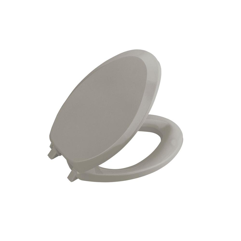 KOHLER French Curve Elongated Closed-front Toilet Seat in Cashmere-DISCONTINUED