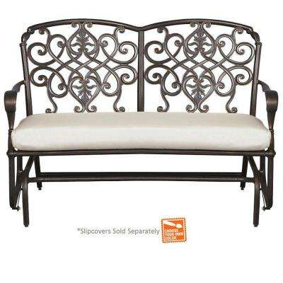 Edington Cast Back Double Glider with Cushion Insert (Slipcovers Sold Separately)