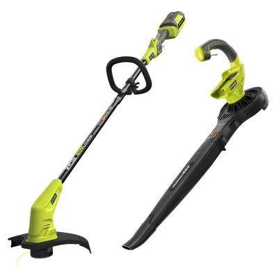 40-Volt Lithium-Ion Cordless String Trimmer and Blower/Sweeper Combo Kit (2-Tool) - 2.6 Ah Battery and Charger Included