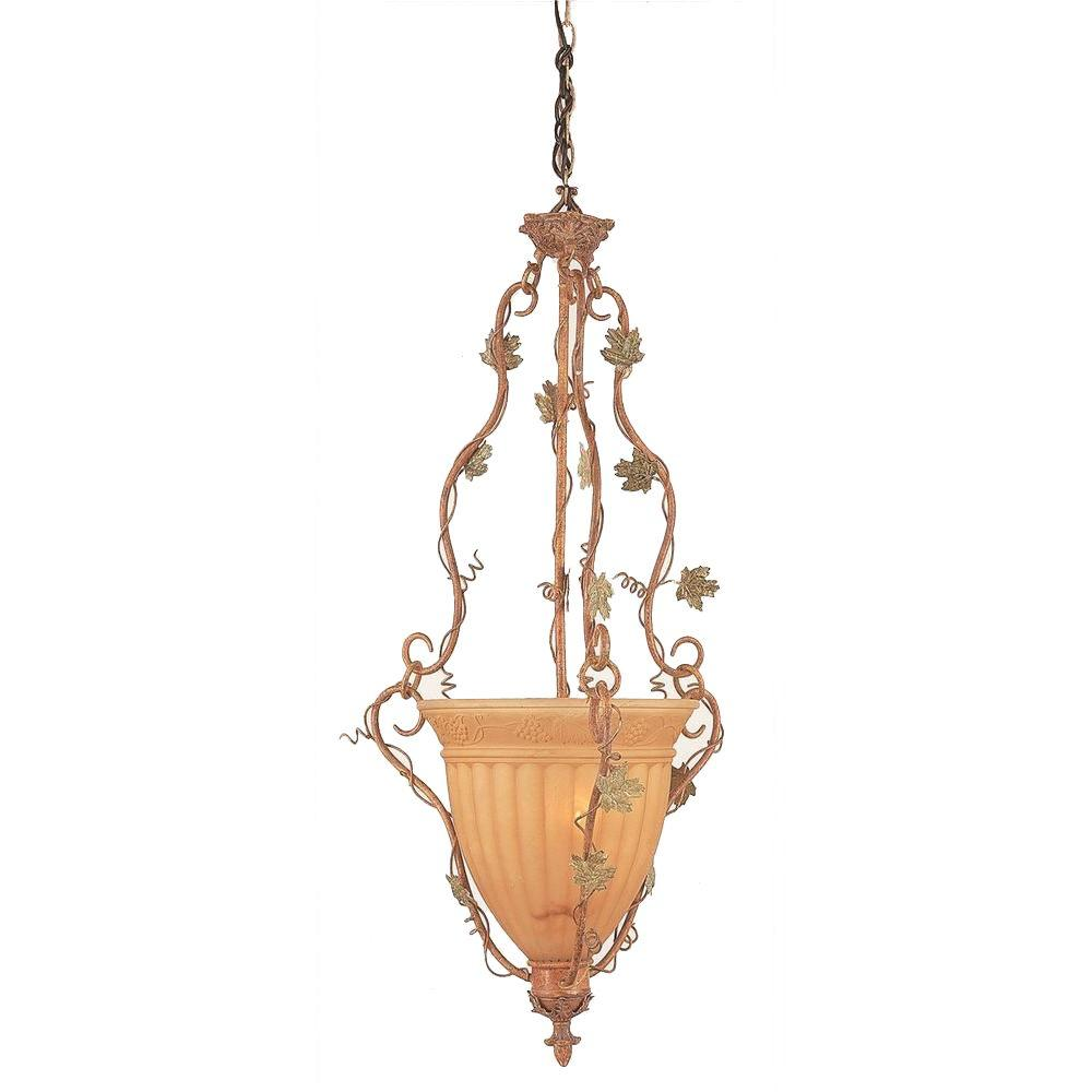 Bel Air Lighting 1-Light Antique Terra Cotta Grape Pendant
