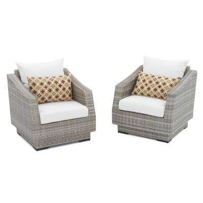 Cannes Patio Club Chair with Moroccan Cream Cushions (2-Pack)