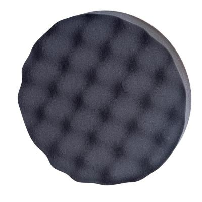 7 in. GAFPP7 Quick-Change Waffle-Pattern Foam Polishing Pad with Reusable Hook and Loop Backing