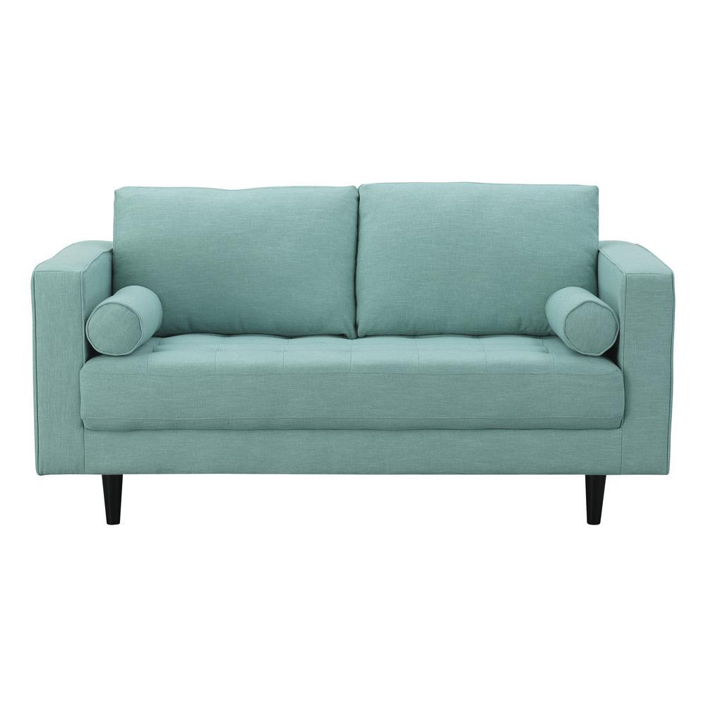 Awe Inspiring Green Cotton Fabric Sofas Loveseats Living Room Creativecarmelina Interior Chair Design Creativecarmelinacom
