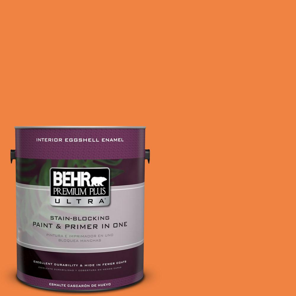 1 gal. #P220-7 Construction Zone Eggshell Enamel Interior Paint and Primer