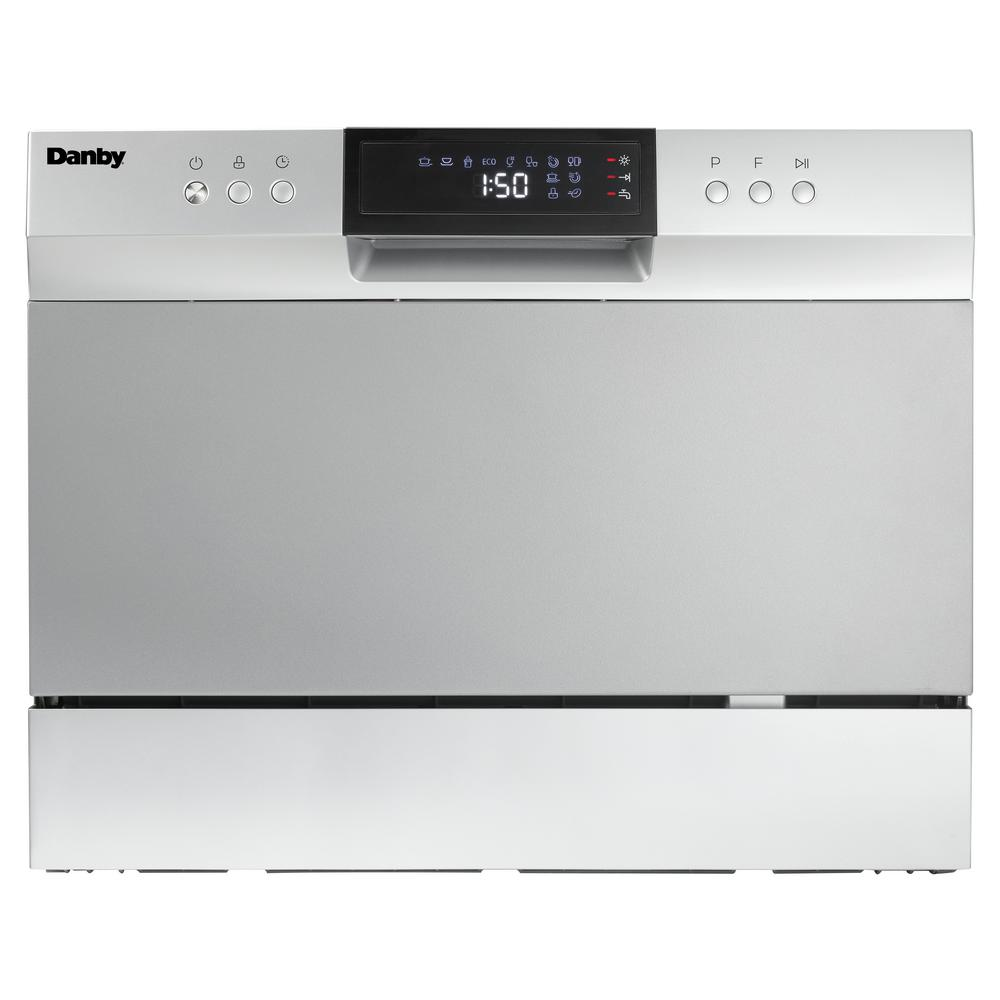 Danby 6 Place Setting, Counter-Top Dishwasher in Electronic Silver ...