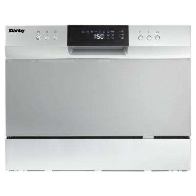 6 Place Setting Counter Top Dishwasher In Electronic Silver