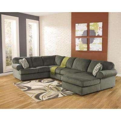 Signature Design by Ashley Jessa Pewter Fabric Place Sectional