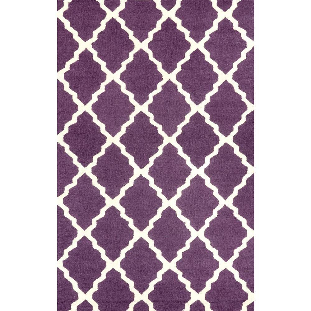 Nuloom Trellis Purple 7 Ft 6 In X 9 Ft 6 In Area Rug