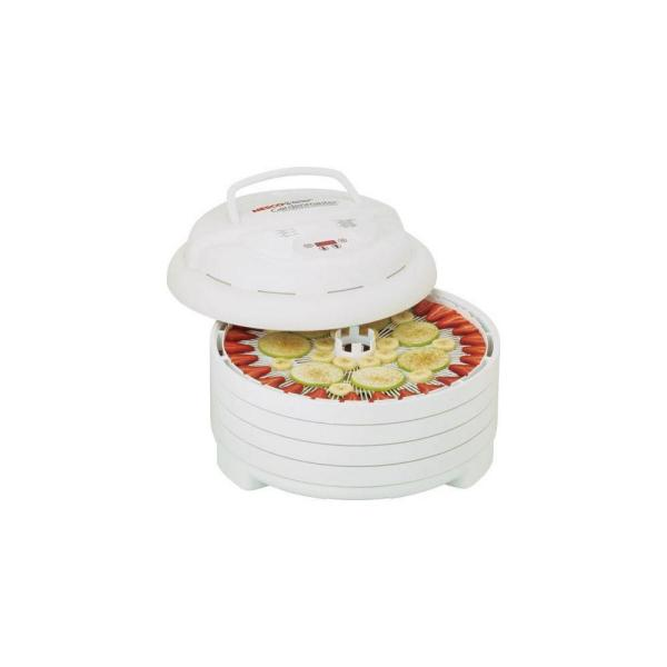 Gardenmaster 4-Tray Expandable White Food Dehydrator with Temperature Control