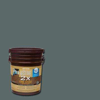 5 gal. 2X Pewter Solid Deck Stain with NeverWet