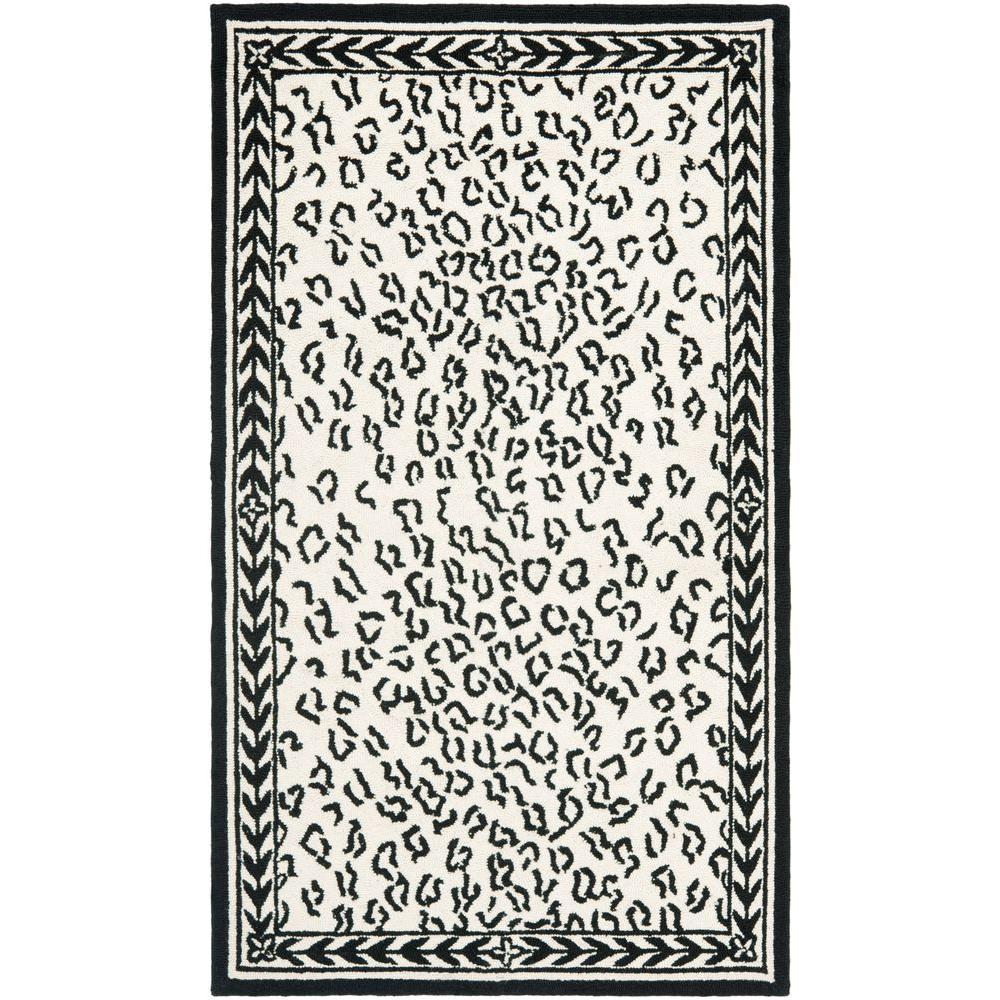 Safavieh Chelsea White/Black 2 ft. 9 in. x 4 ft. 9 in. Area Rug