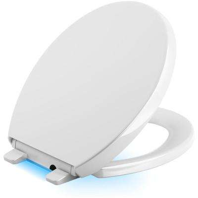 Reveal LED Nightlight Round Closed Front Toilet Seat in White