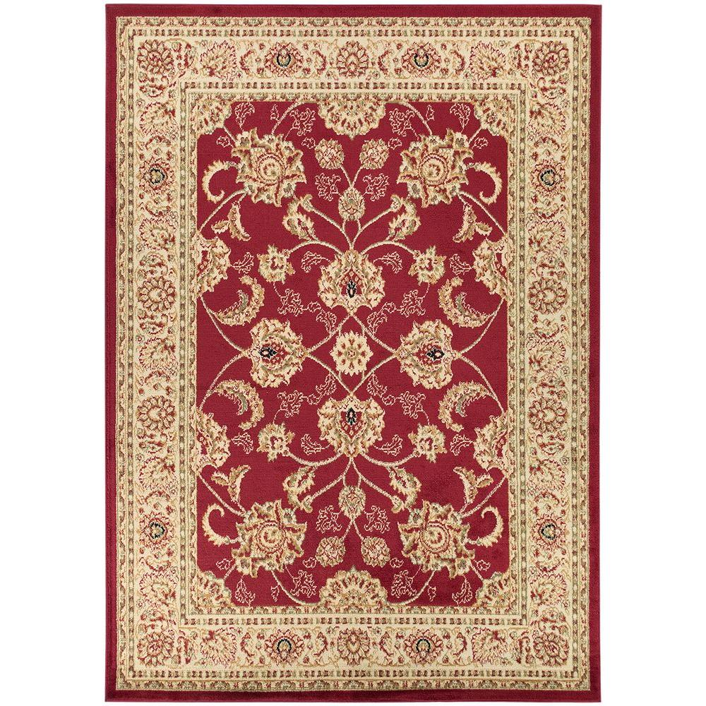 Ottomanson Traditional Floral Design Dark Red 2 Ft X 7 Ft: Merinos Ottomanson UPC & Barcode