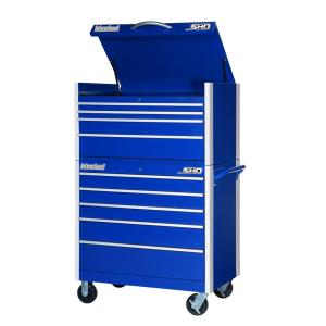 International SHD Series 42 inch 9-Drawer Tool Chest and Cabinet Combo in Blue by International