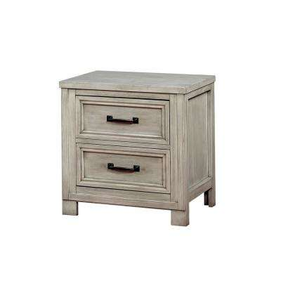 Brody 2-Drawer Antique White Nightstand