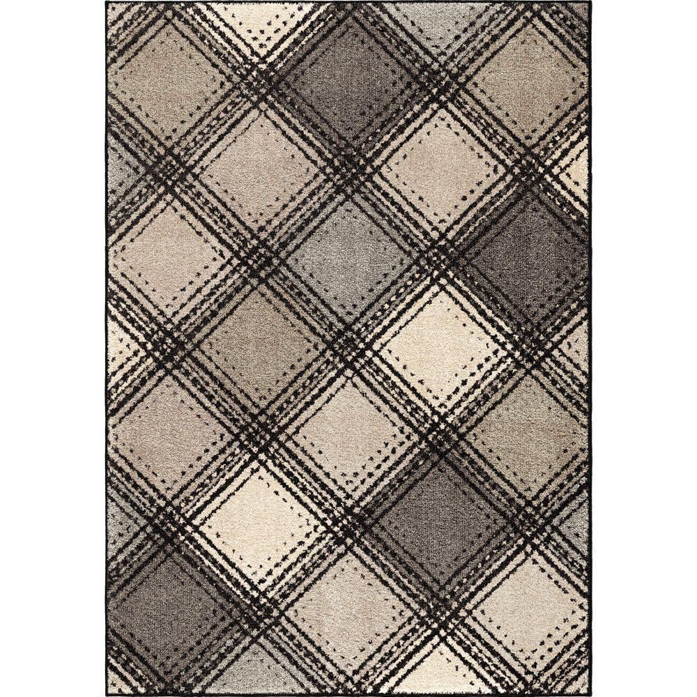Orian Rugs Wilkes Plaid Gray 7 Ft 10 In X 10 Ft 10 In