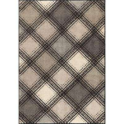 Wilkes Plaid Gray 7 ft. 10 in. x 10 ft. 10 in. Plush Pile Boxes Indoor Area Rug
