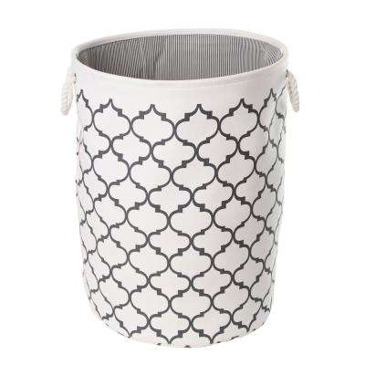 Collapsible Fabric Laundry Hamper Moroccan Lattice Print (2-Pack)