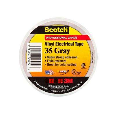 3/4 in. x 66 ft. Vinyl Color Coding Electrical Tape Gray