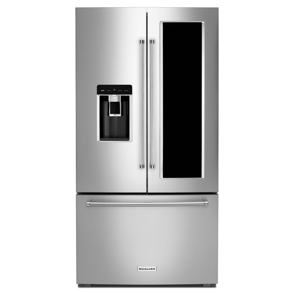 20 Cu Ft French Door Counter Depth: Whirlpool 20 Cu. Ft. French Door Refrigerator In