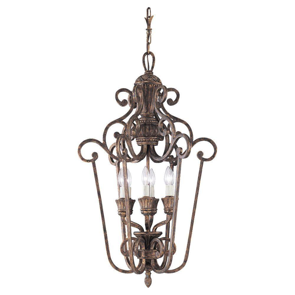 Sea Gull Lighting Highlands 6-Light Regal Bronze Hall-Foyer Pendant