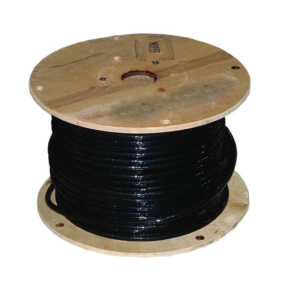 1000 ft. 1-1 Black Stranded Al USE-2 Cable