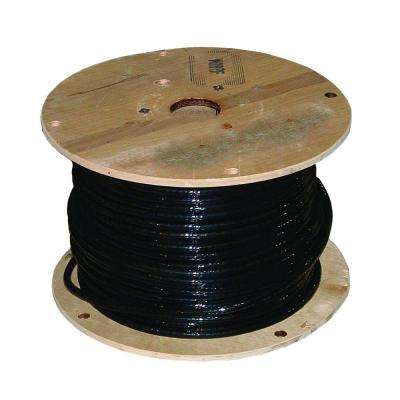 1,000 ft. 1/0 Black Stranded AL USE-2 Cable